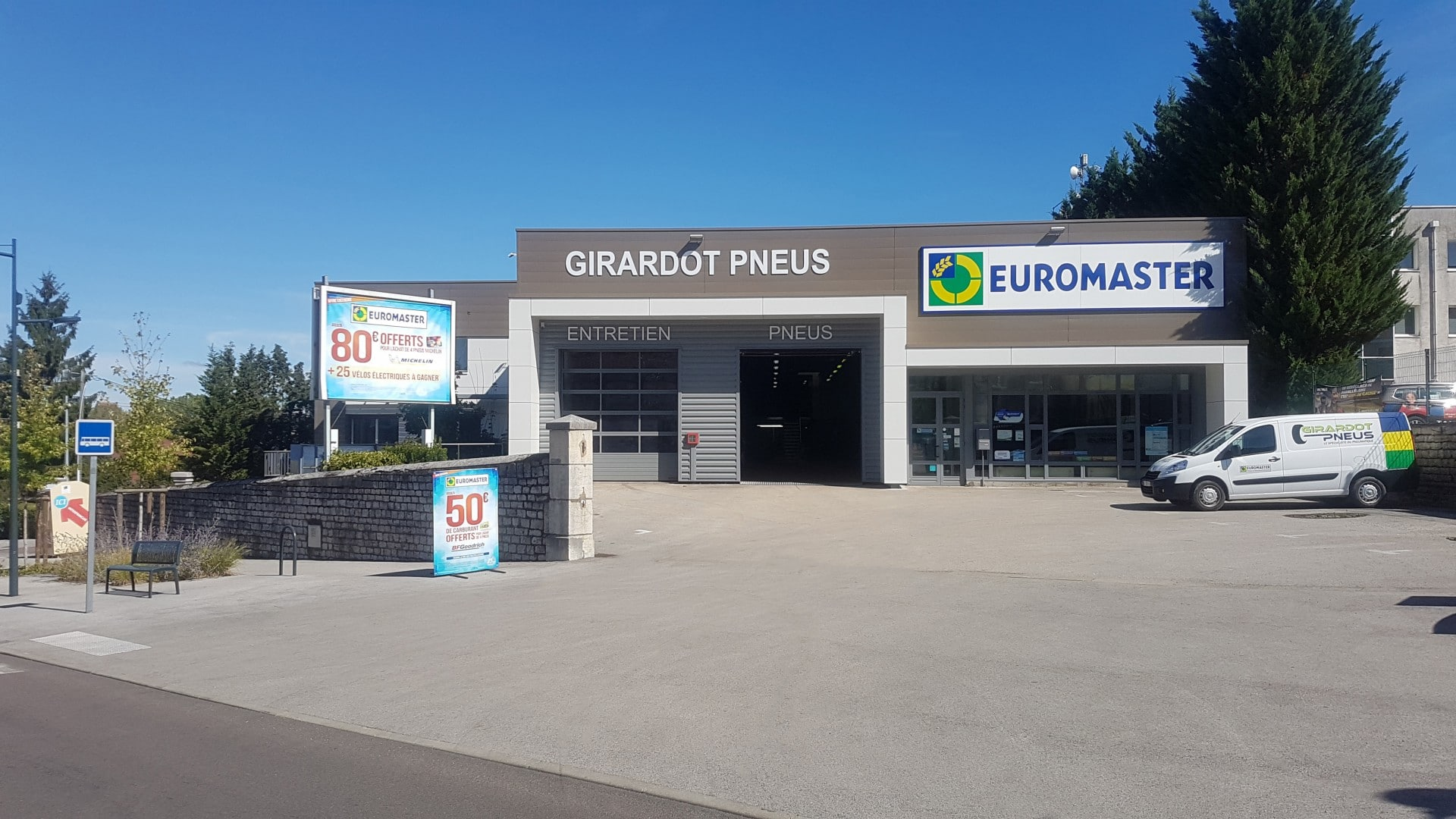Pneus Girardot après rénovation
